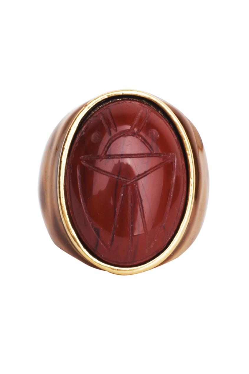 Кольцо с жуком-скарабеем