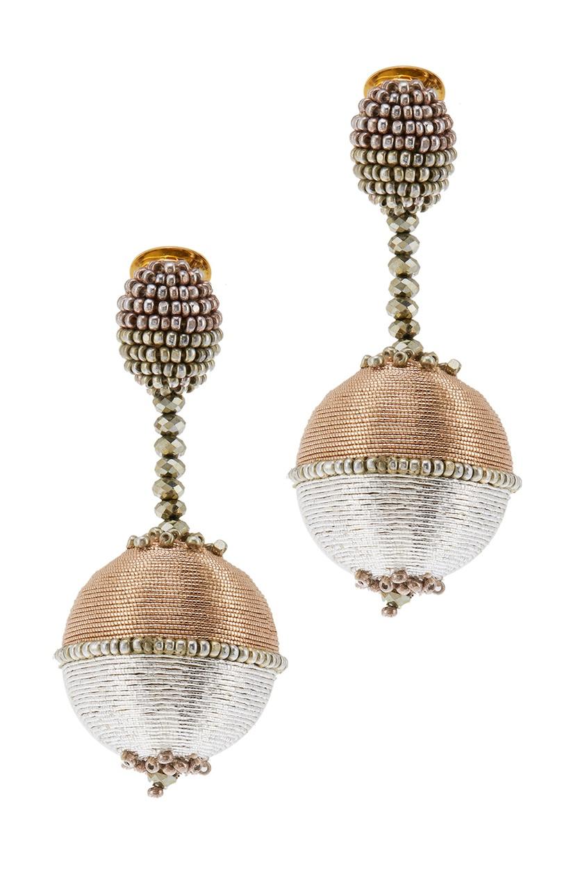 Oscar de la Renta Серьги-клипсы с шарами oscar de la renta колье с кристаллами