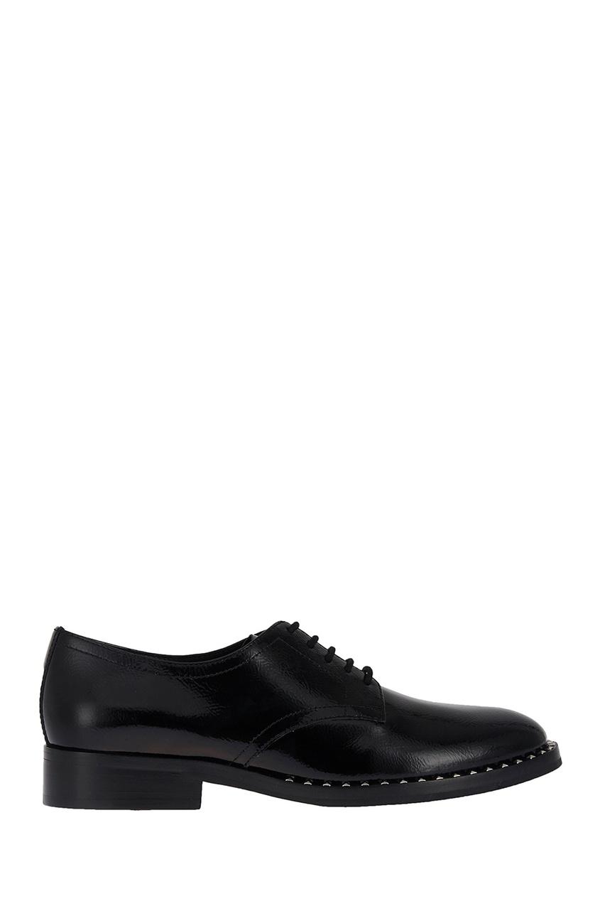 женские туфли-дерби ash, черные