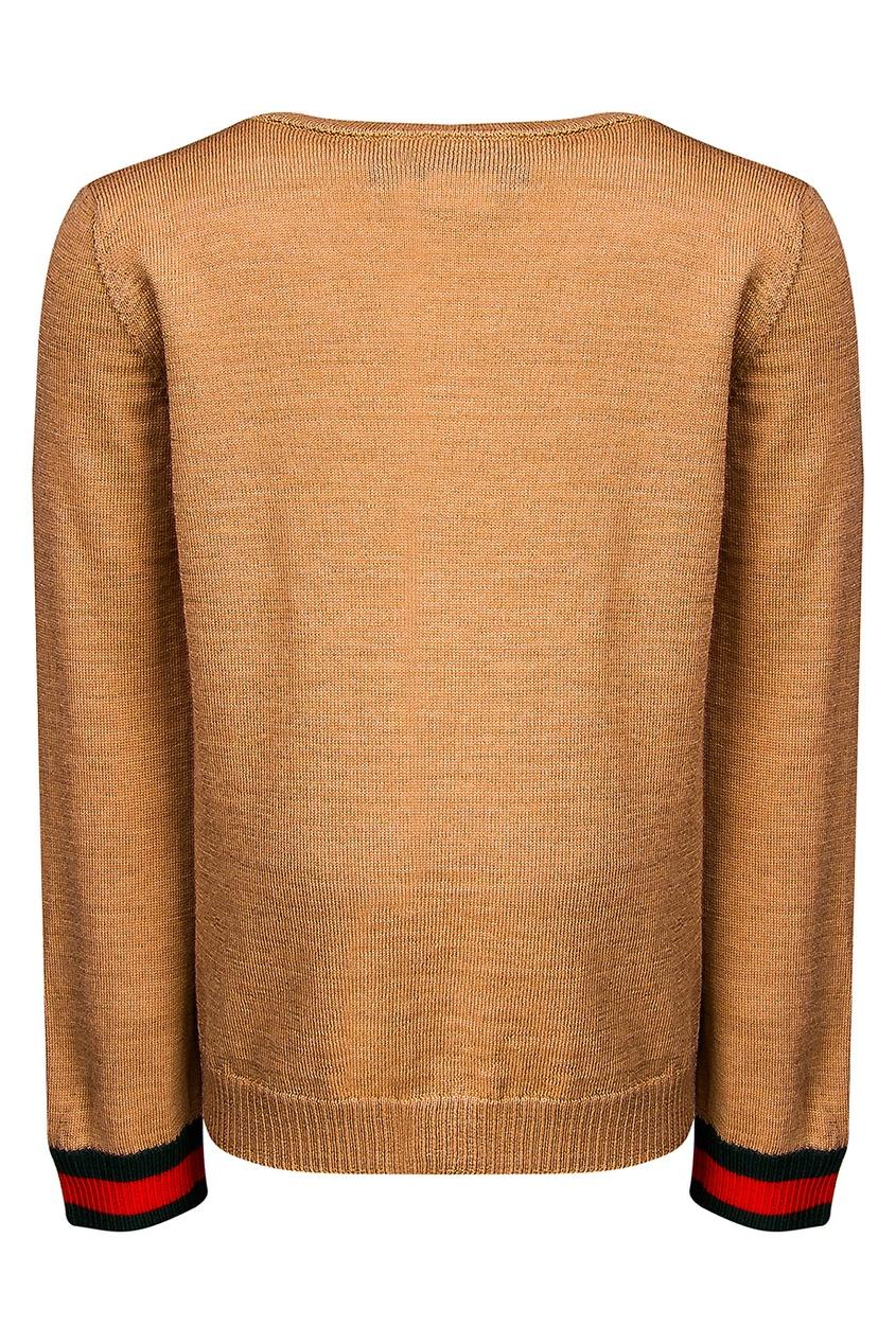 купить Gucci Children Однотонный пуловер по цене 11070 рублей