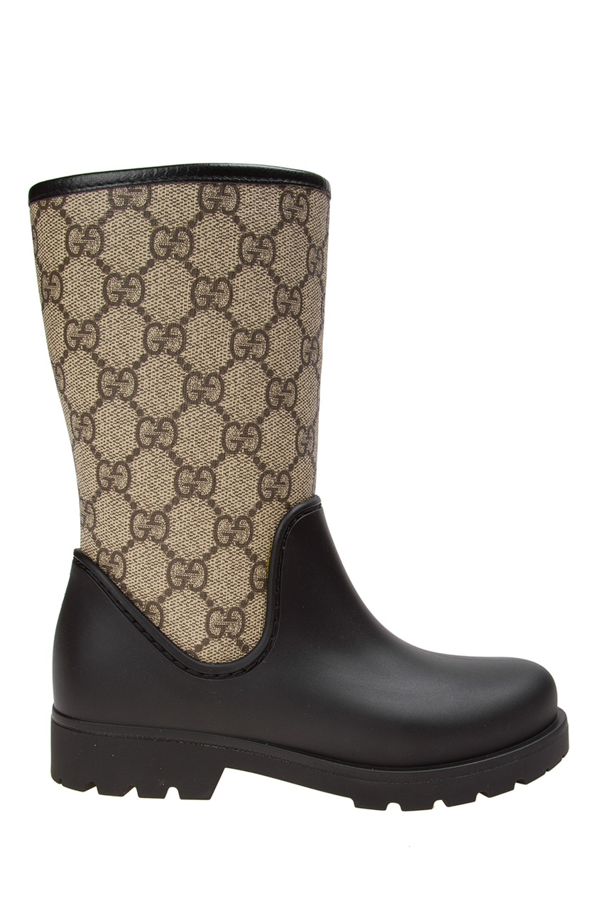 Gucci Children Комбинированные сапоги gucci черные сапоги с эластичной деталью