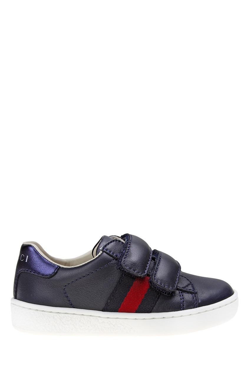 купить Gucci Children Кожаные кроссовки по цене 17820 рублей