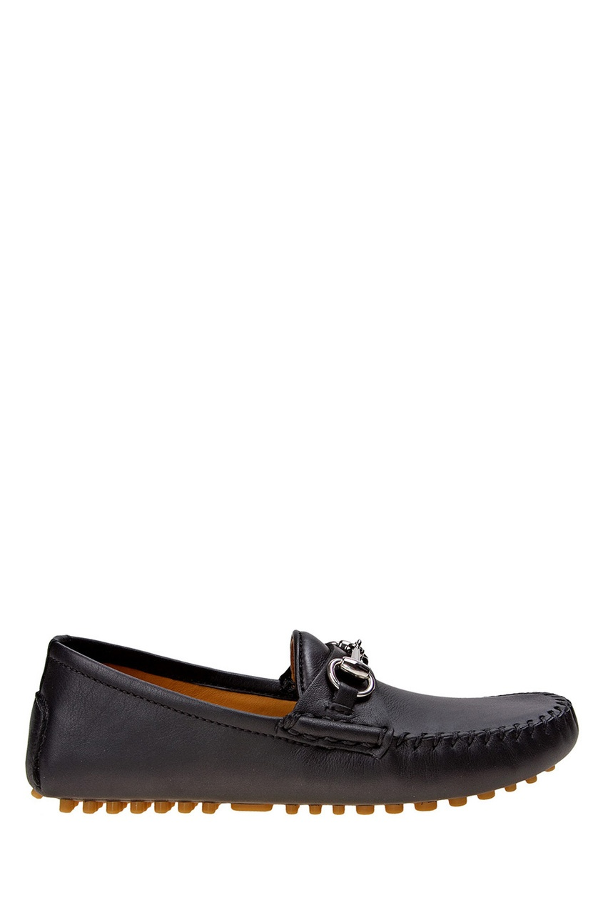 Gucci Children Кожаные мокасины gucci черные кожаные сандалии horsebit