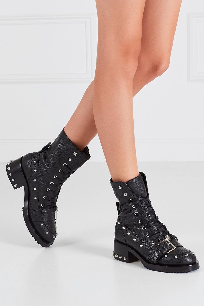 Кожаные ботинки Army 40
