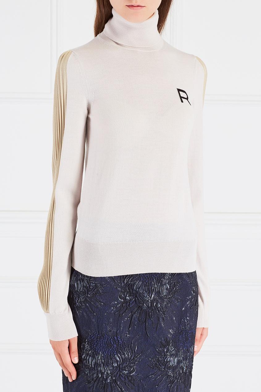 Rochas Шерстяная водолазка rochas пальто из шерсти и шелка
