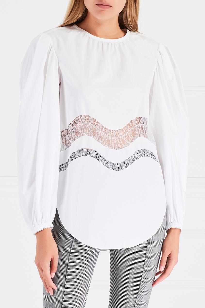Nina Ricci Хлопковая блузка nina ricci хлопковая юбка