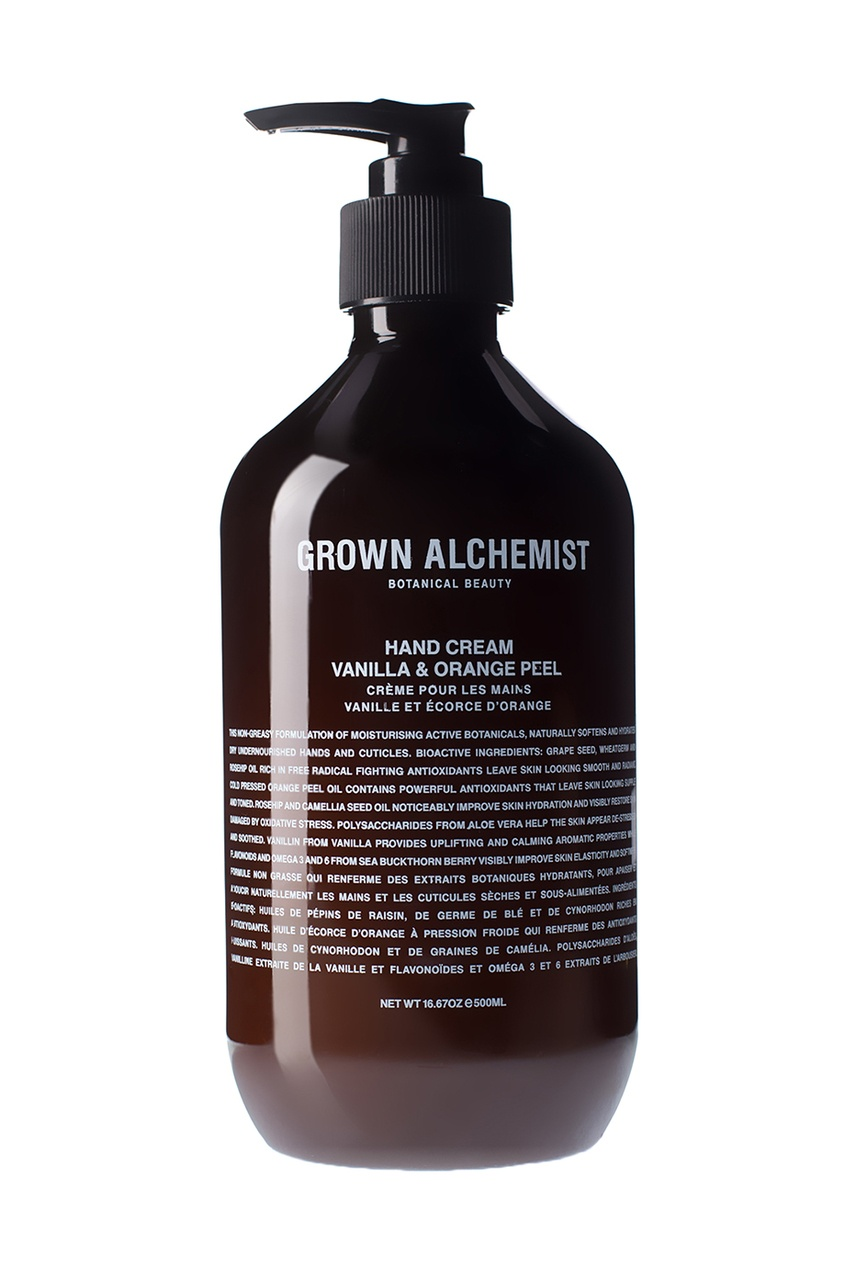 Grown Alchemist Крем для рук Ваниль и апельсин, 500 ml grown alchemist жидкое мыло для рук сандал и иланг иланг 500 мл