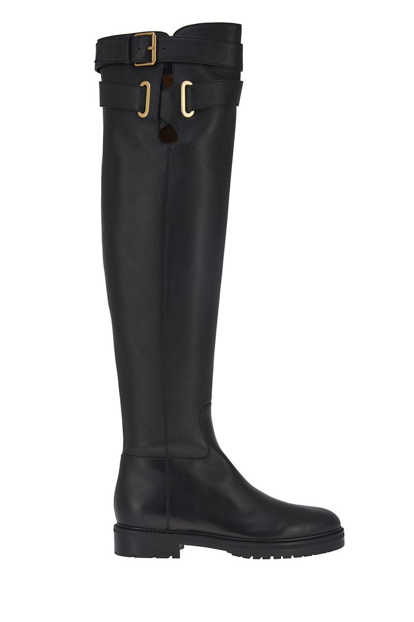 Valentino Кожаные ботфорты valentino кожаные ботинки
