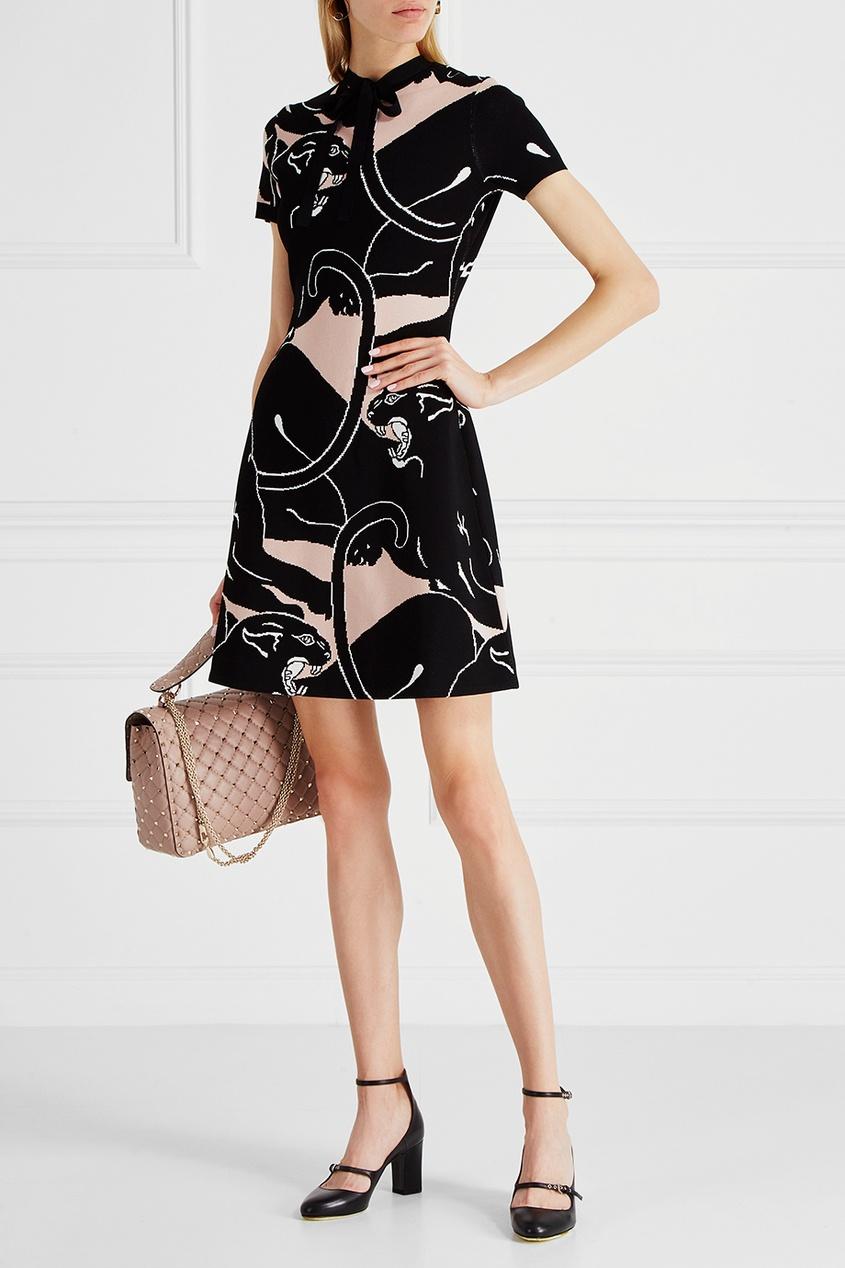 Valentino Платье с пантерами