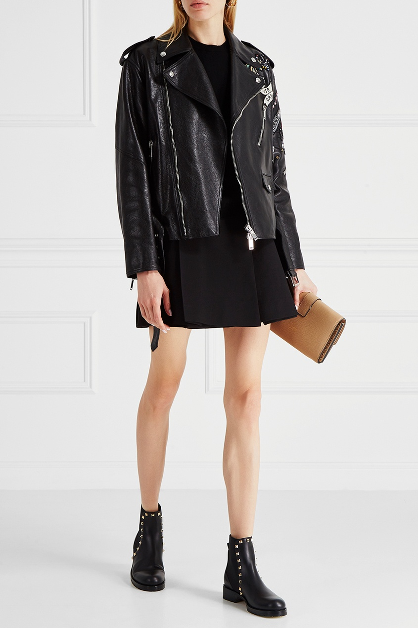 женская юбка valentino, черная