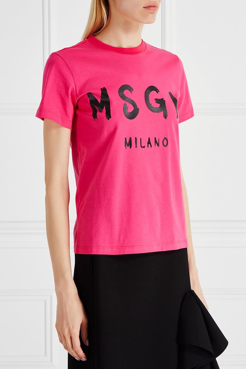 MSGM Хлопковая футболка