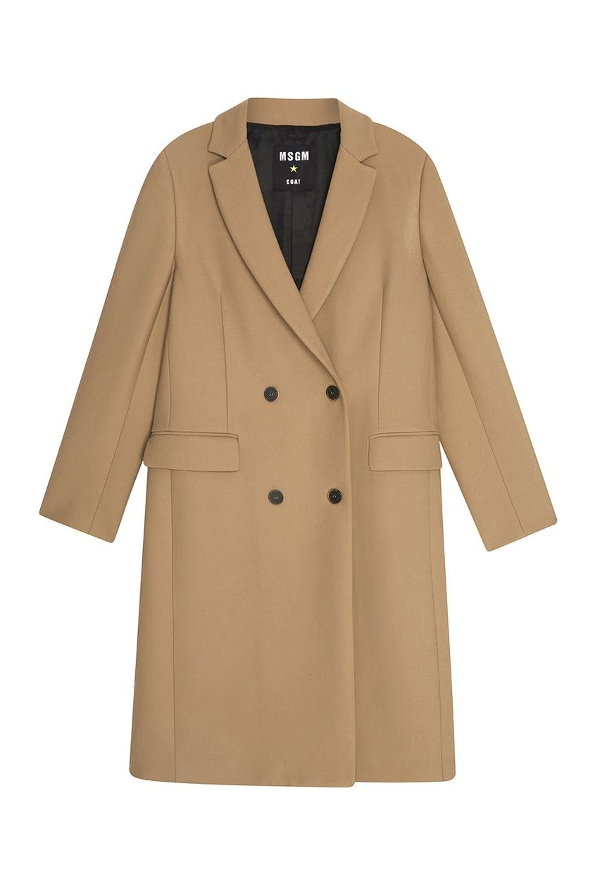 MSGM Однотонное пальто msgm двубортное пальто в клетку