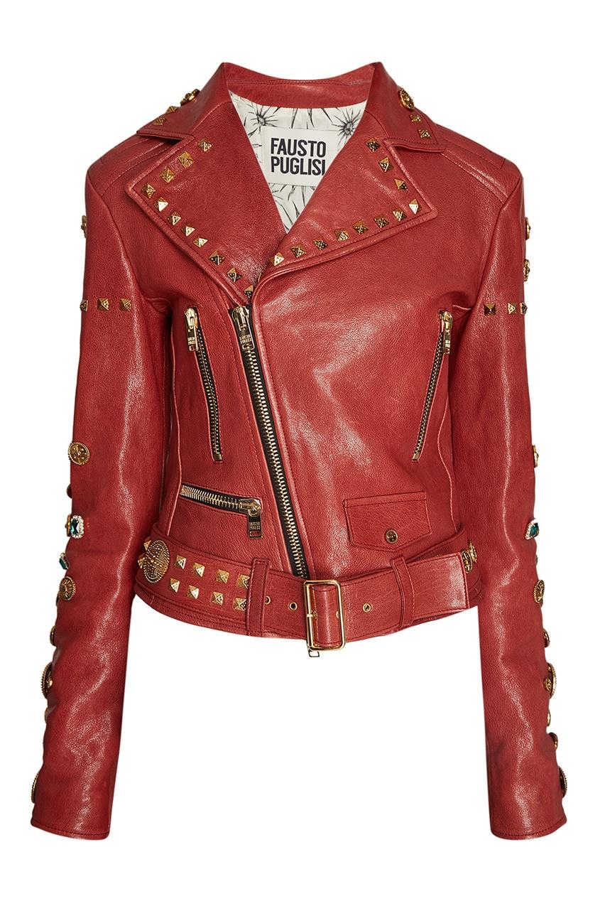 Fausto Puglisi Кожаная куртка кожаная куртка косуха