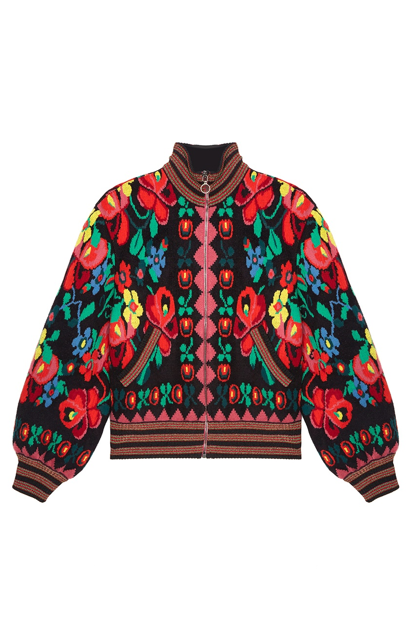 Gucci Шерстяной бомбер gucci черный бомбер с карманами