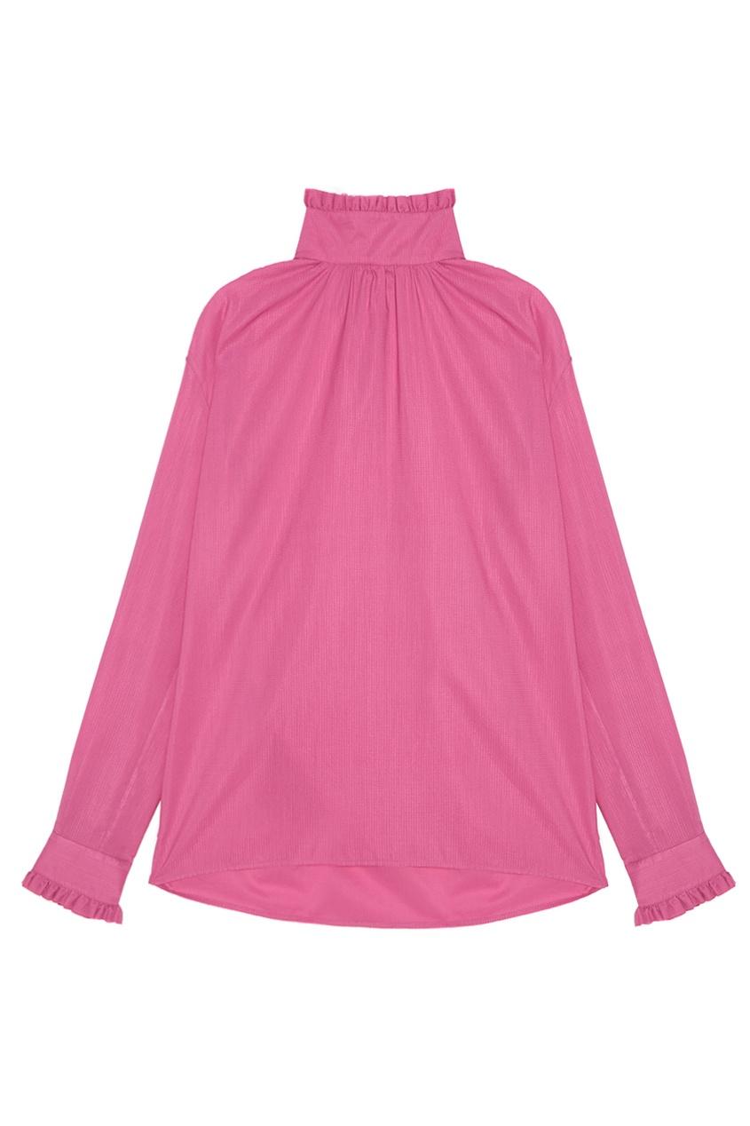 Gucci Хлопковая блузка gucci розовая блузка oversize