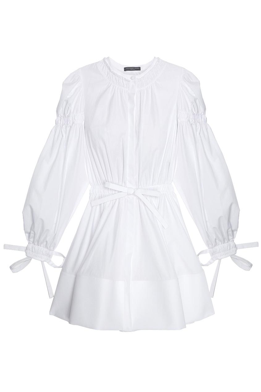 Alexander McQueen Хлопковое платье брюки pinko pinko pi754ewhdt78