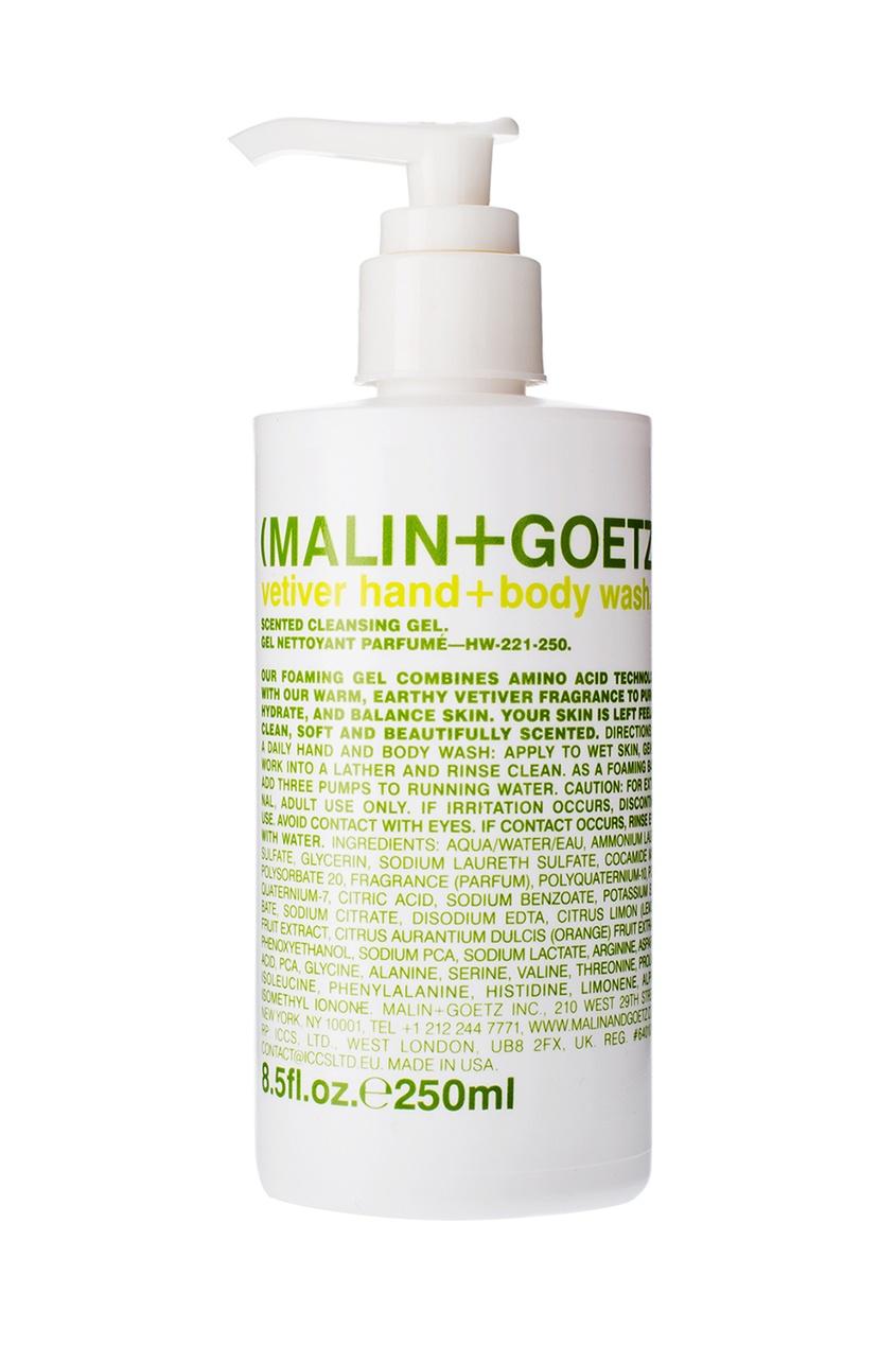 "Malin+Goetz Гель-мыло для душа и рук Ветивер, 250 ml malin goetz гель мыло для рук и тела cannabis ""каннабис"" 250ml"