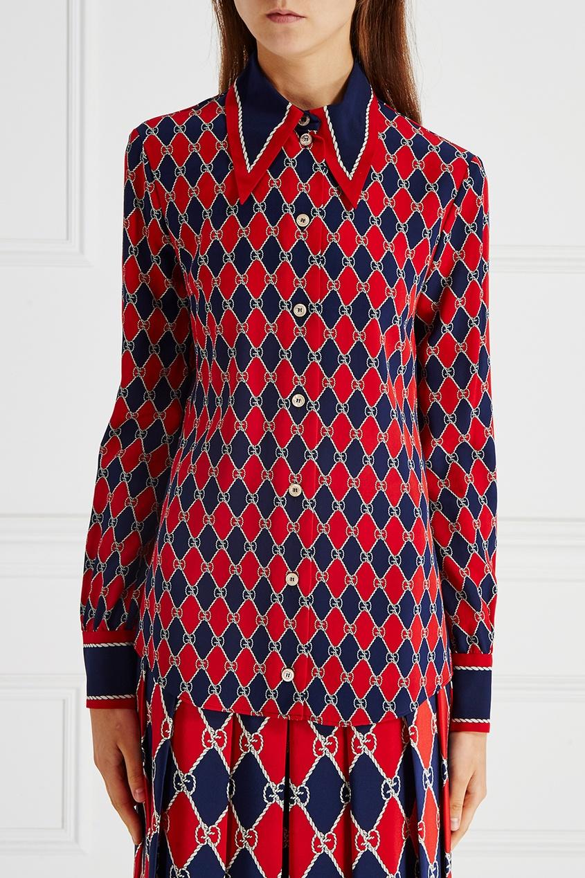 Gucci Шелковая блузка balenciaga шелковая блузка с монограммами