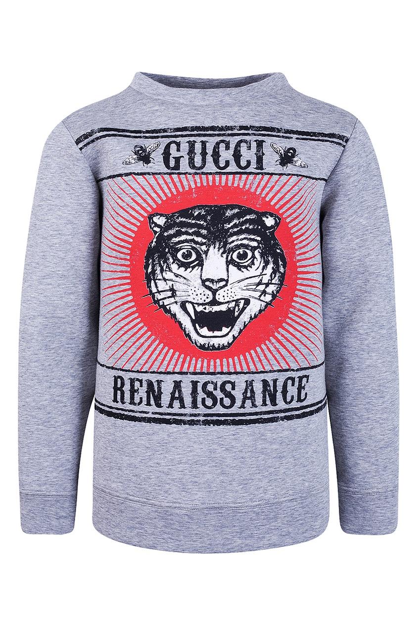 купить Gucci Children Хлопковый свитшот по цене 15380 рублей