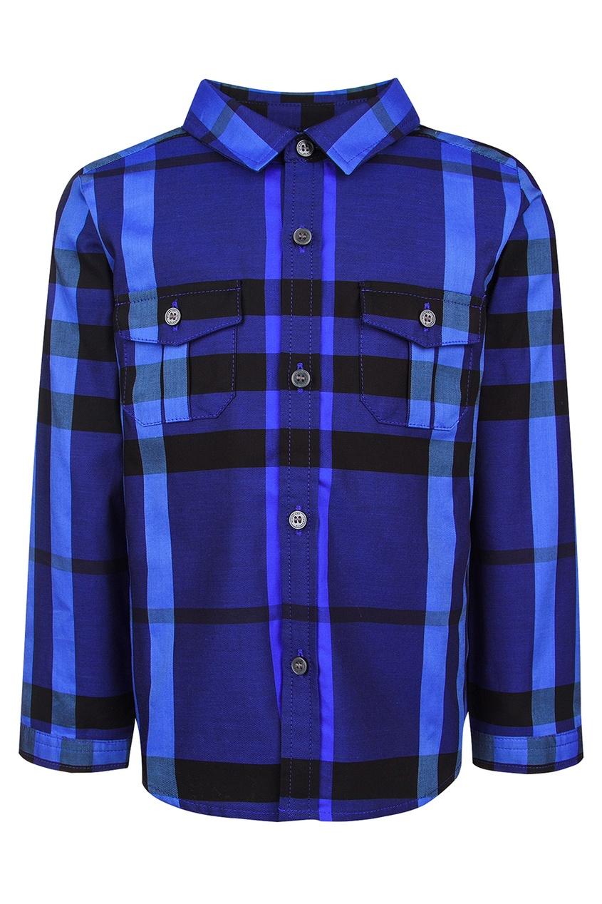 Burberry Children Хлопковая рубашка burberry children хлопковое худи