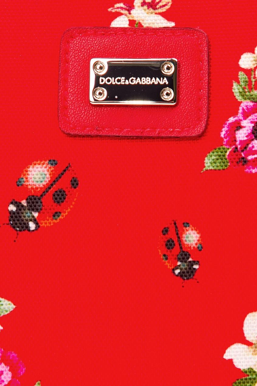 Чемодан с принтом Dolce&Gabbana Children
