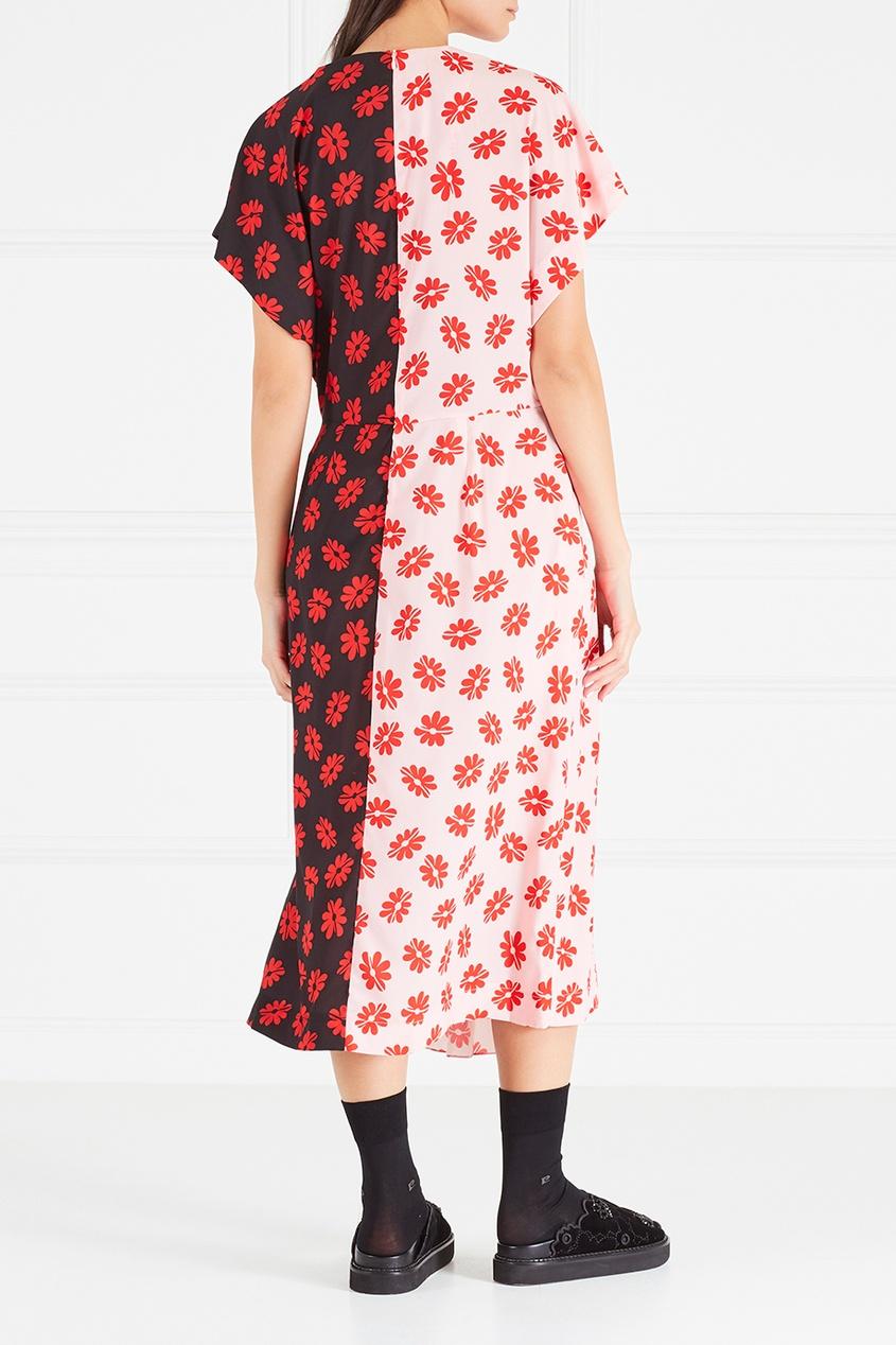 цена Simone Rocha Платье с принтом онлайн в 2017 году