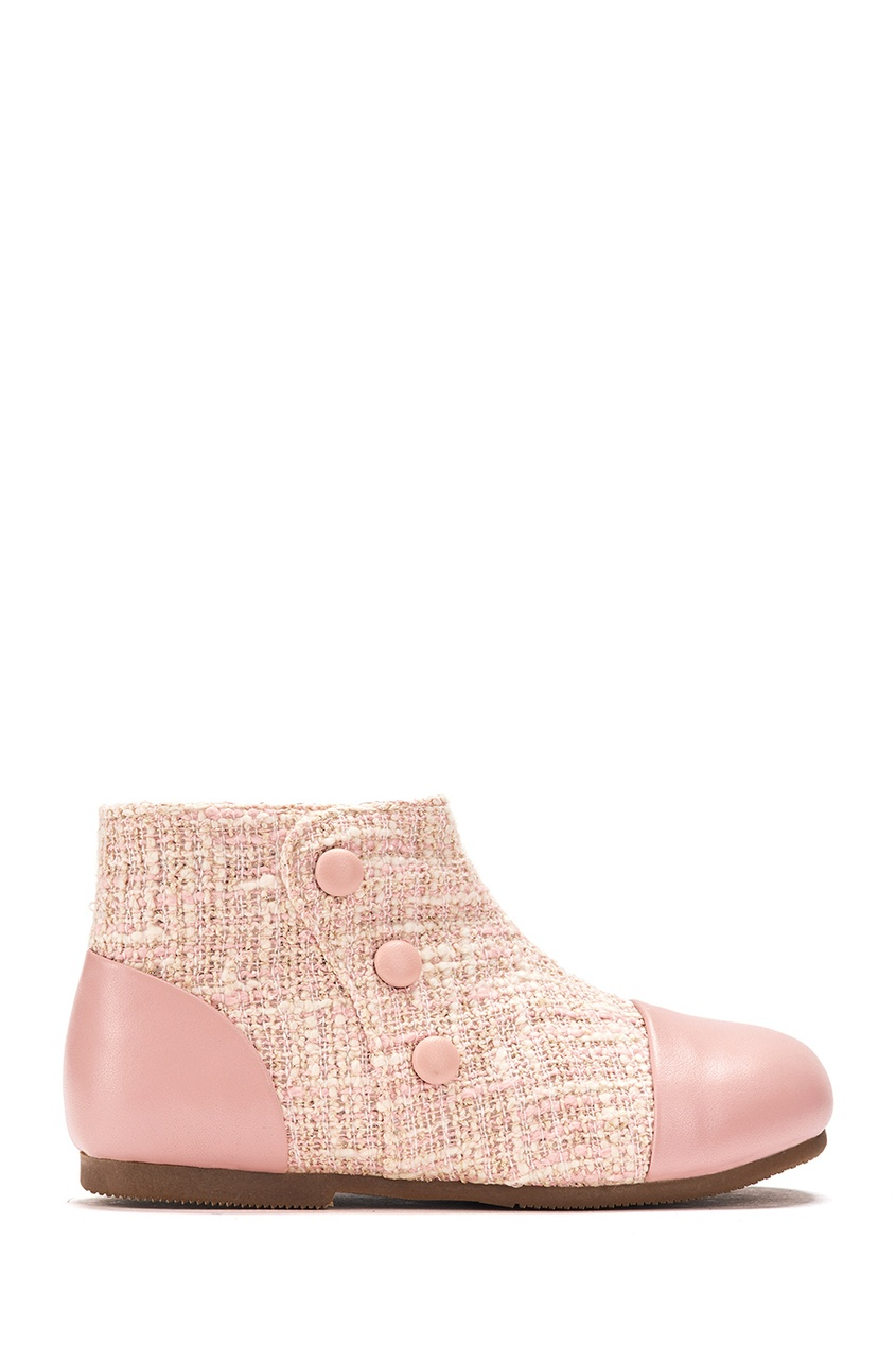 Ботинки из кожи и твида Isa