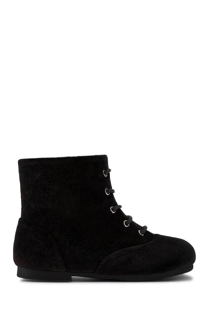 Бархатные ботинки Camilla Black