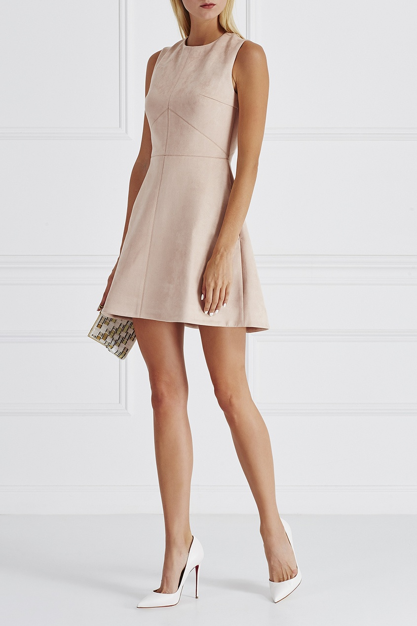 цена T-Skirt Однотонное платье онлайн в 2017 году
