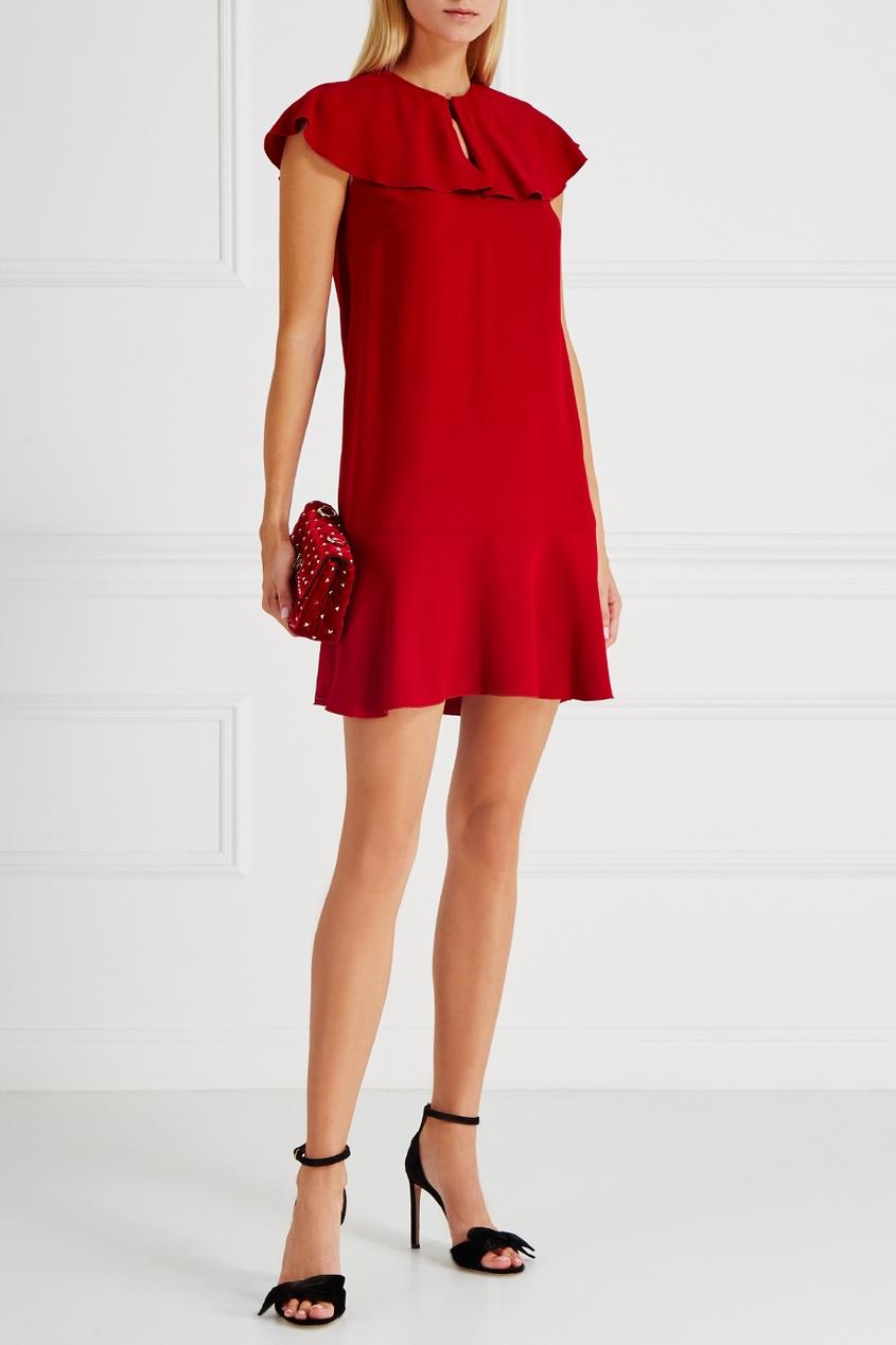valentino платье от valentino 97598 Red Valentino Платье с воланами