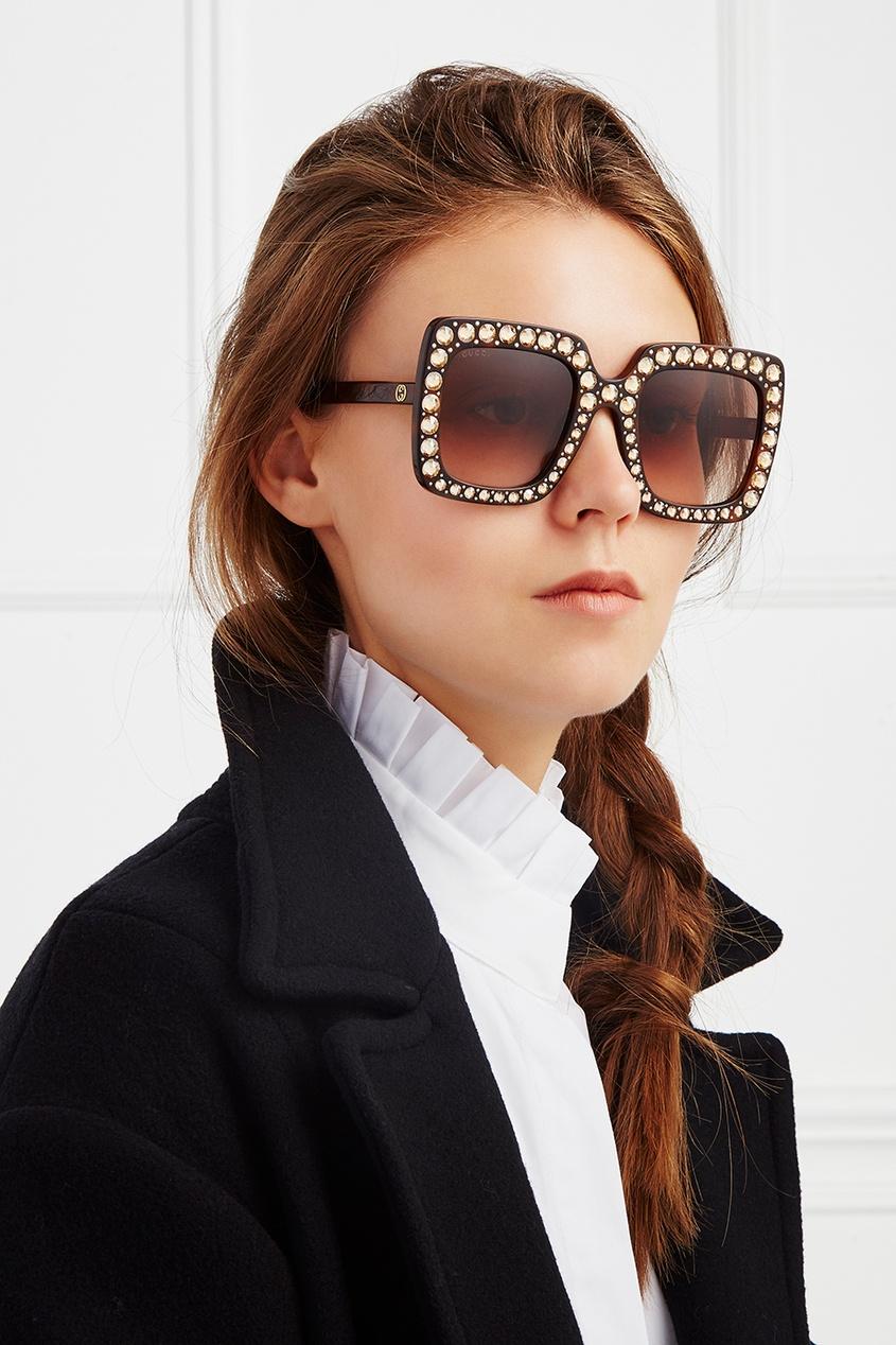 Gucci Солнцезащитные очки с кристаллами gucci солнцезащитные очки с кристаллами