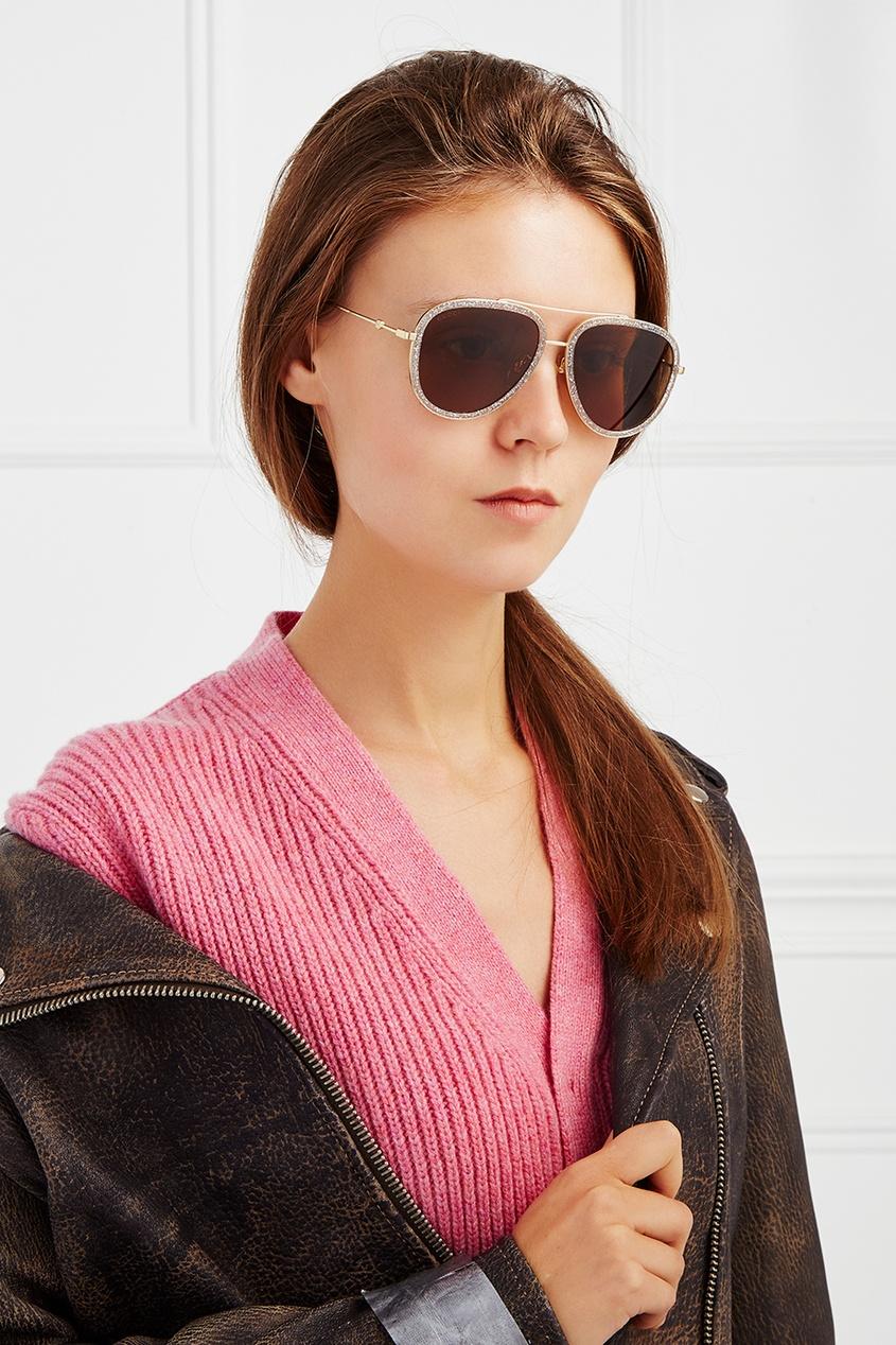 Солнцезащитные очки с блестками