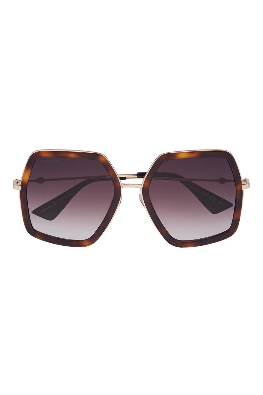 Gucci Солнцезащитные очки vogue vogel очки черного кадра серебряного покрытия линза мода полной оправе очки vo5067sd w44s6g 56мм