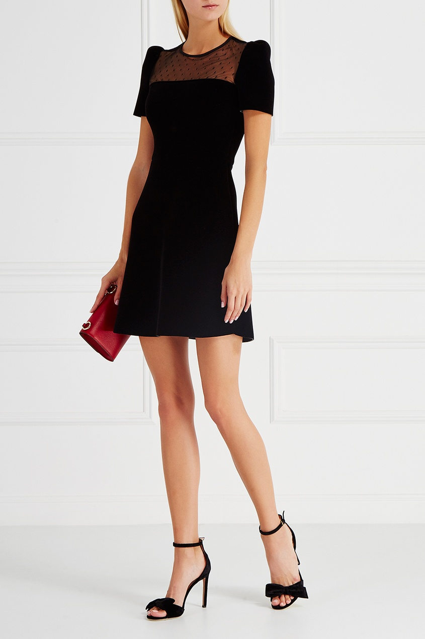 Red Valentino Бархатное платье