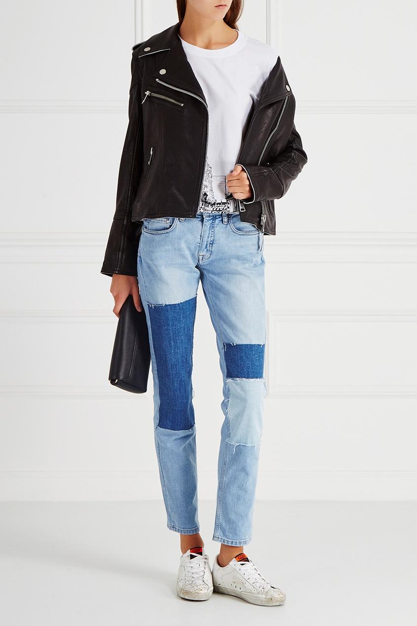 victoria beckham укороченные джинсы Victoria Victoria Beckham Хлопковая футболка