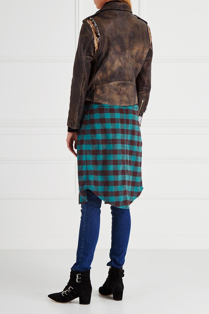 Кожаная куртка Mini Chiodo