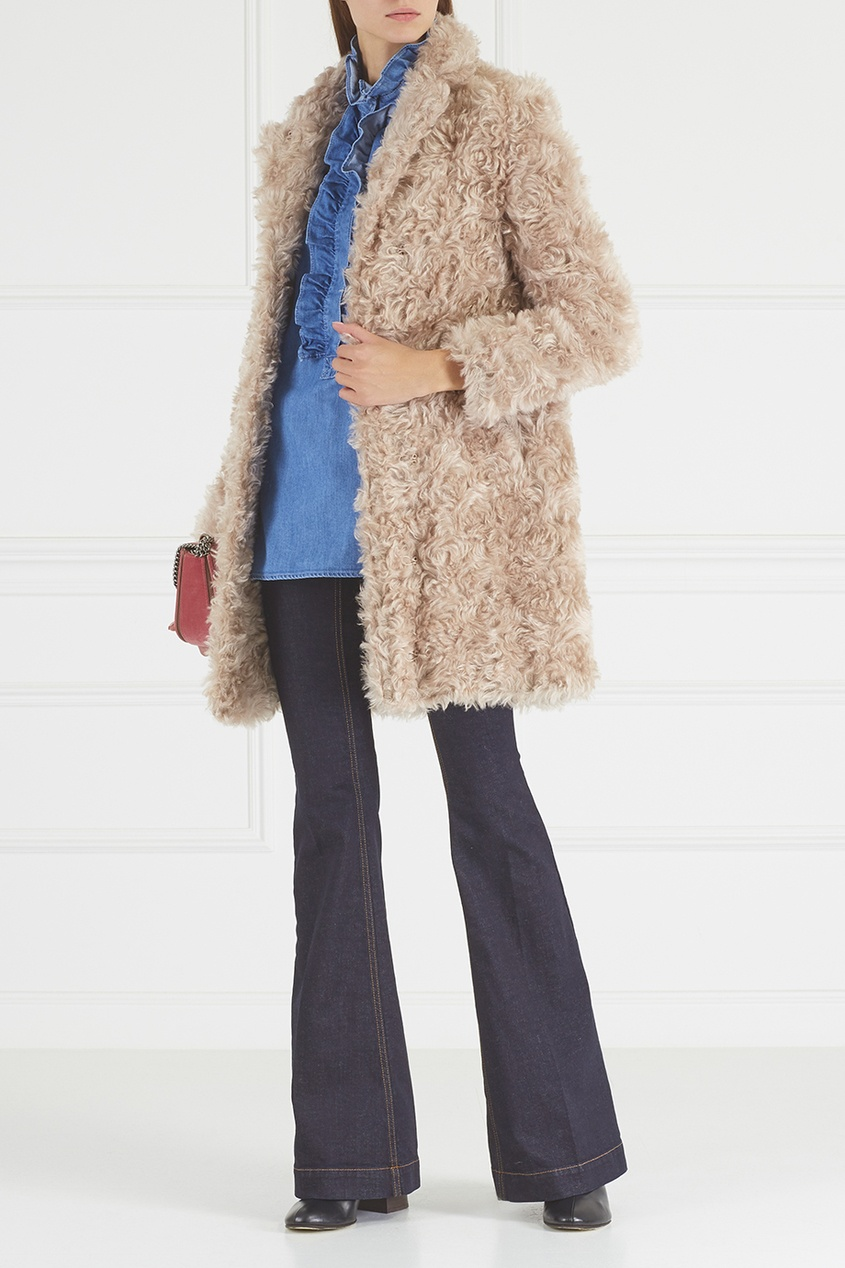 Stella McCartney Пальто из мохера и хлопка пальто seanna платье пальто вязаное зигзаги из мохера с запахом
