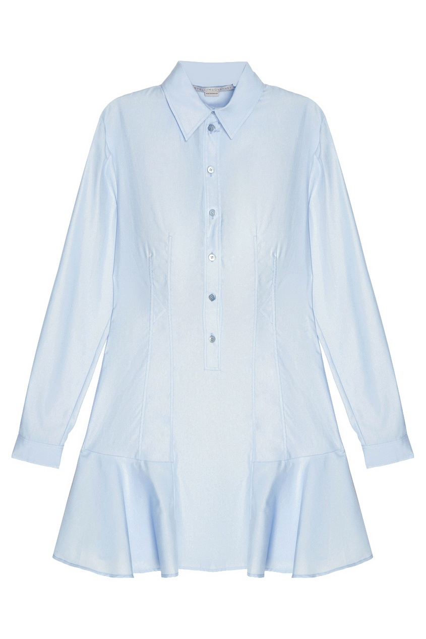 Stella McCartney Хлопковое платье stella mccartney юбка мини с воланами