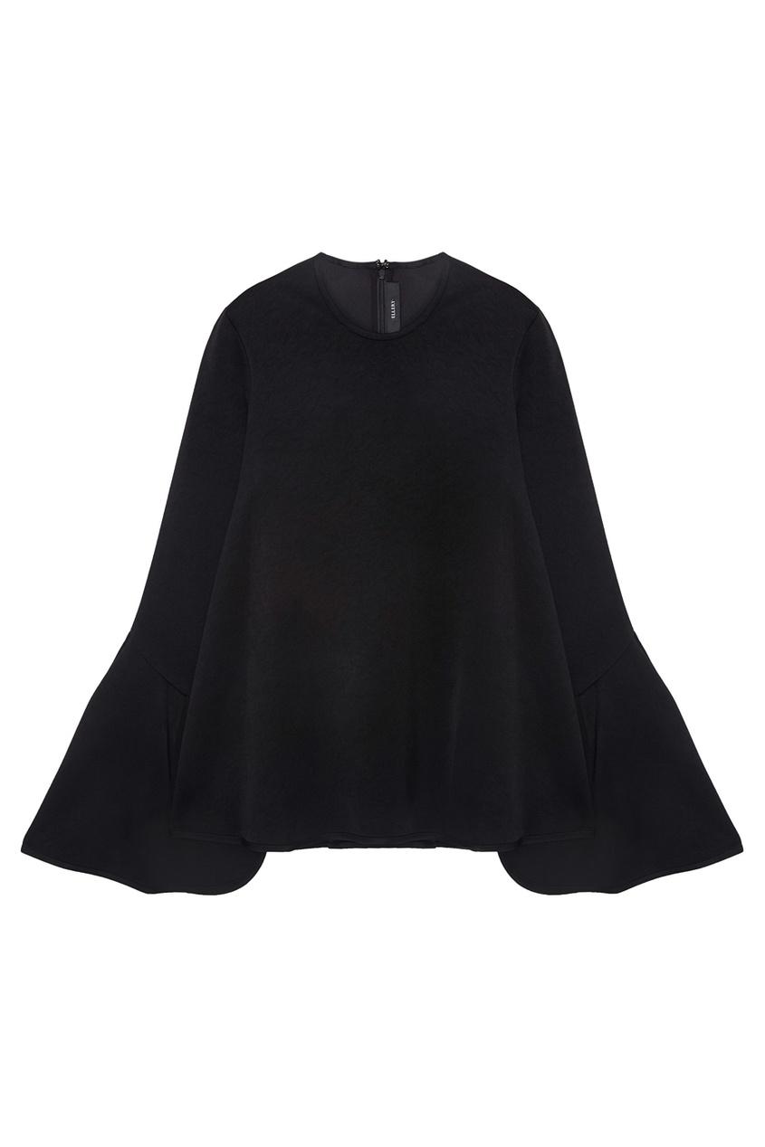 Ellery Однотонная блузка Blacklash theory полосатая блузка а силуэта