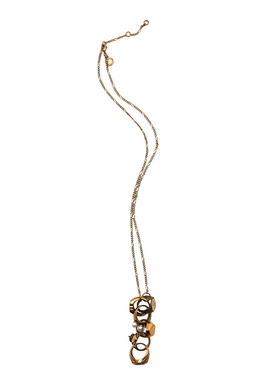 Stella McCartney Колье с жемчужными бусинами gucci кольцо с жемчужными бусинами