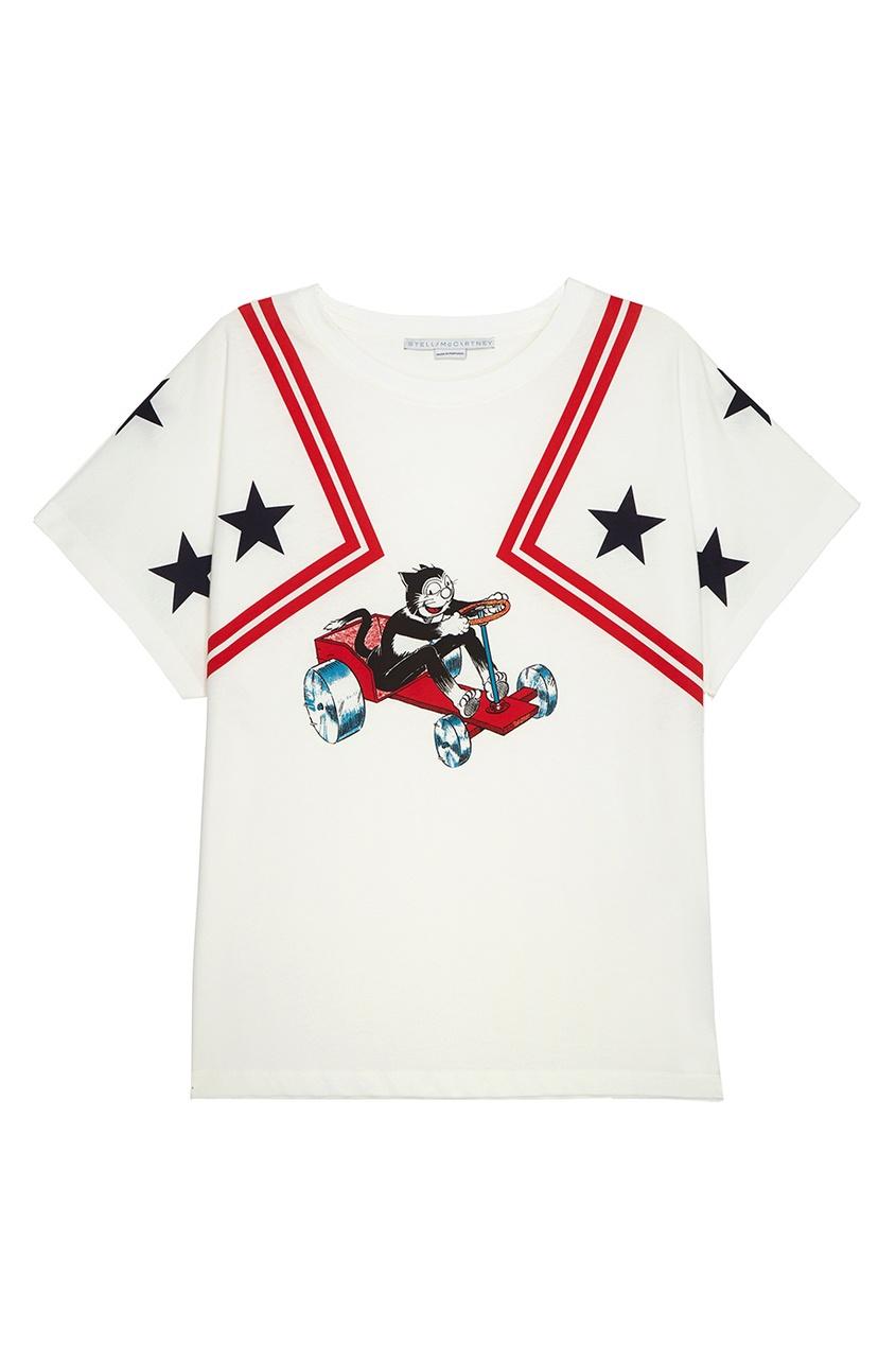 Stella McCartney Хлопковая футболка stella mccartney 1206703