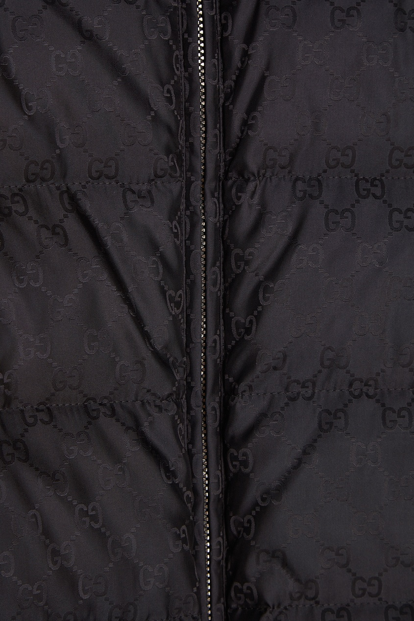 Фактурный жилет Gucci Man. Цвет: черный
