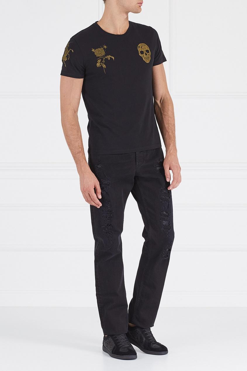 Alexander McQueen Комбинированные джинсы
