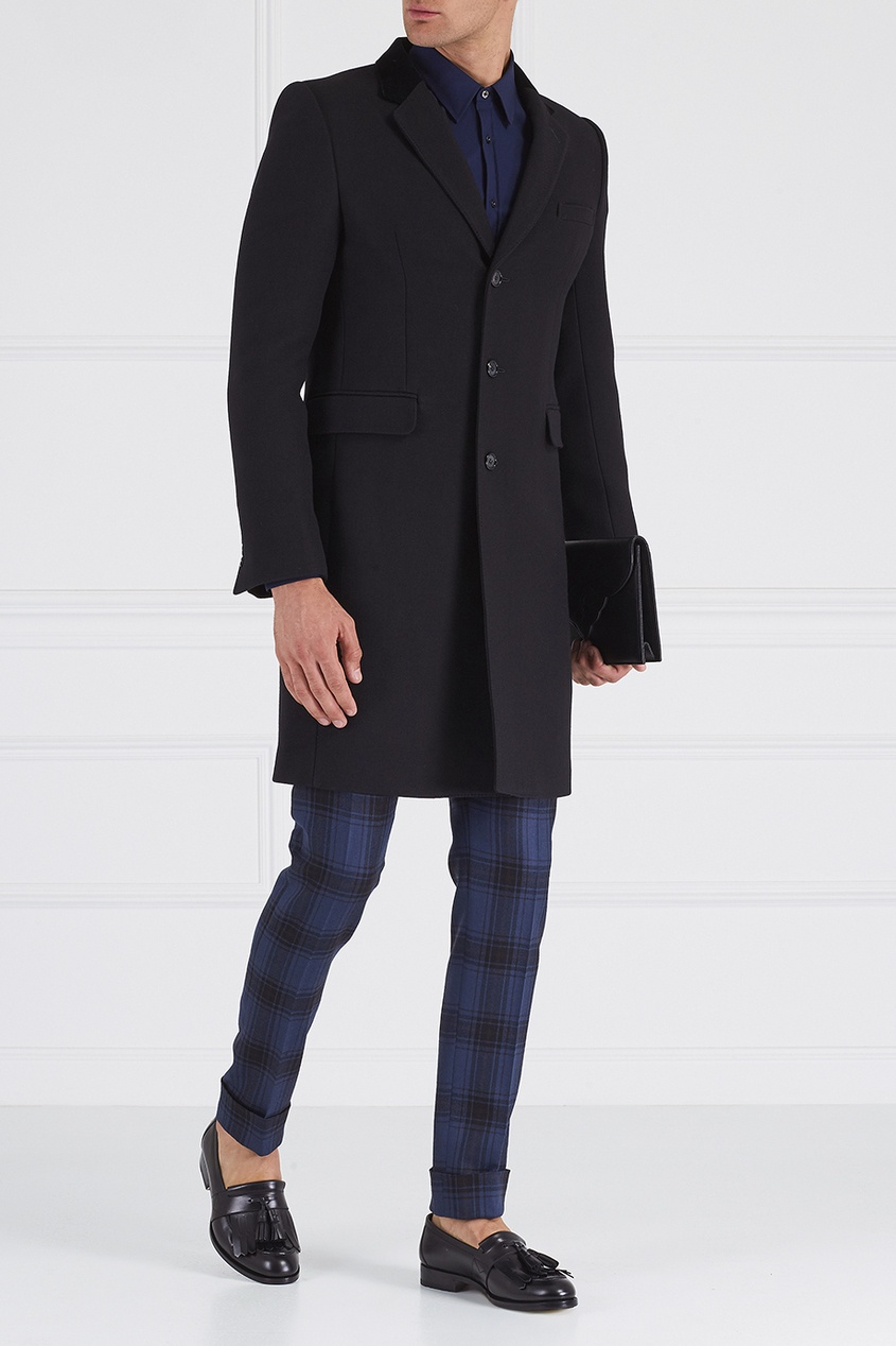 Alexander McQueen Комбинированное пальто
