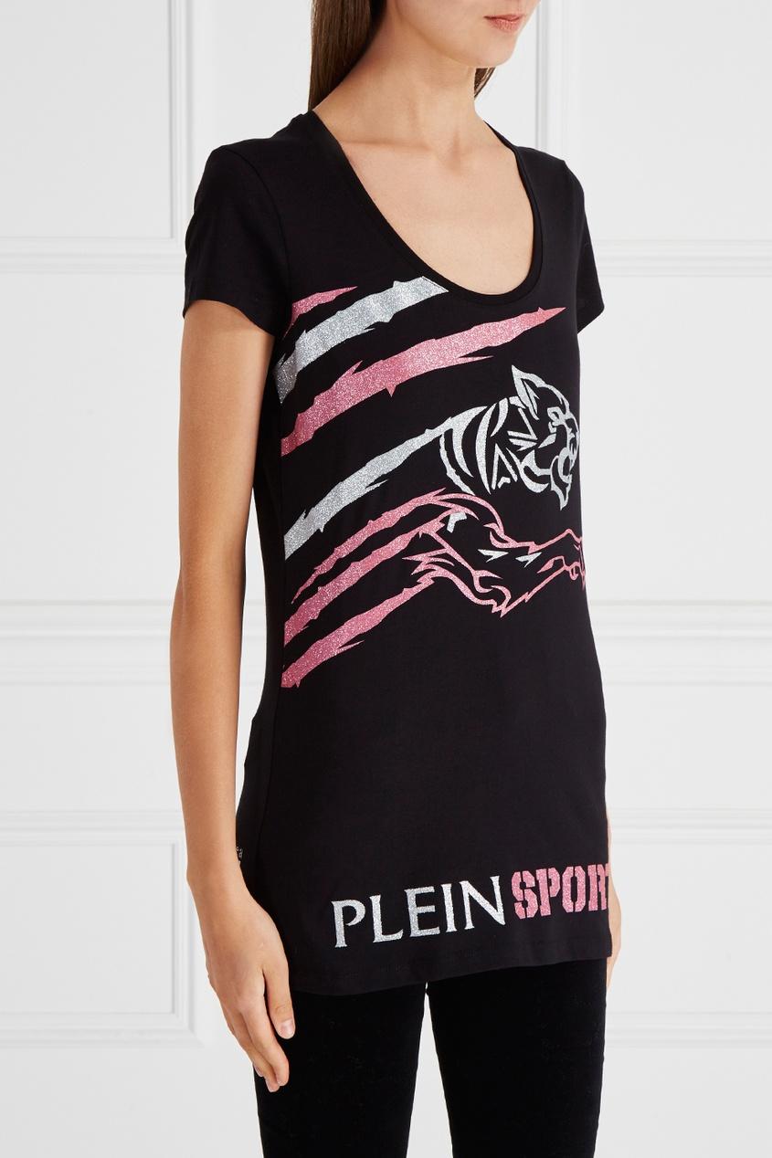 Philipp Plein Футболка с блестящим принтом футболка via montenapoleone philipp plein