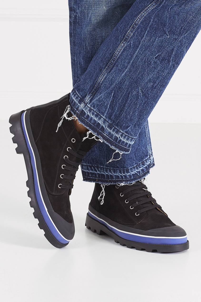 Valentino Замшевые ботинки объемные декоративные панели valetti