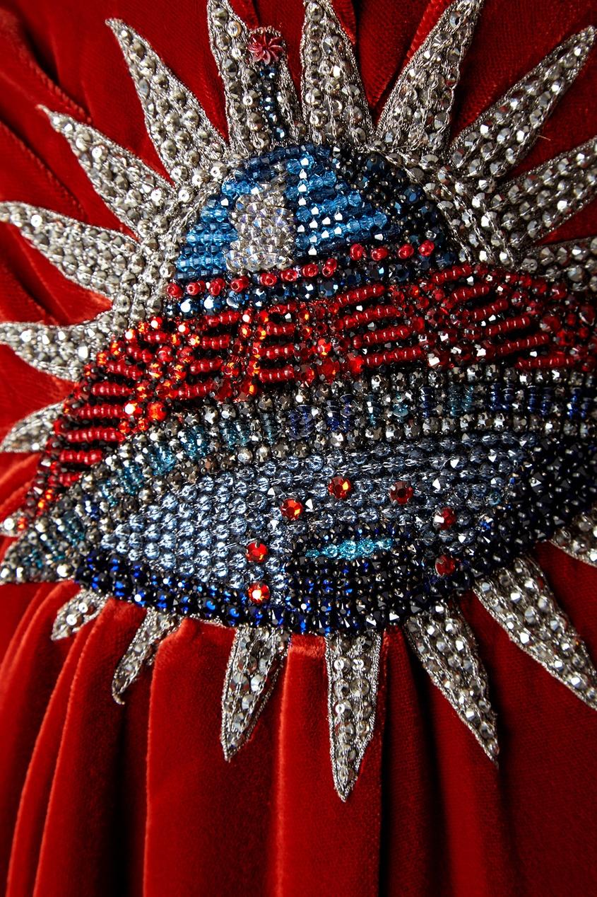 Gucci Бархатное платье