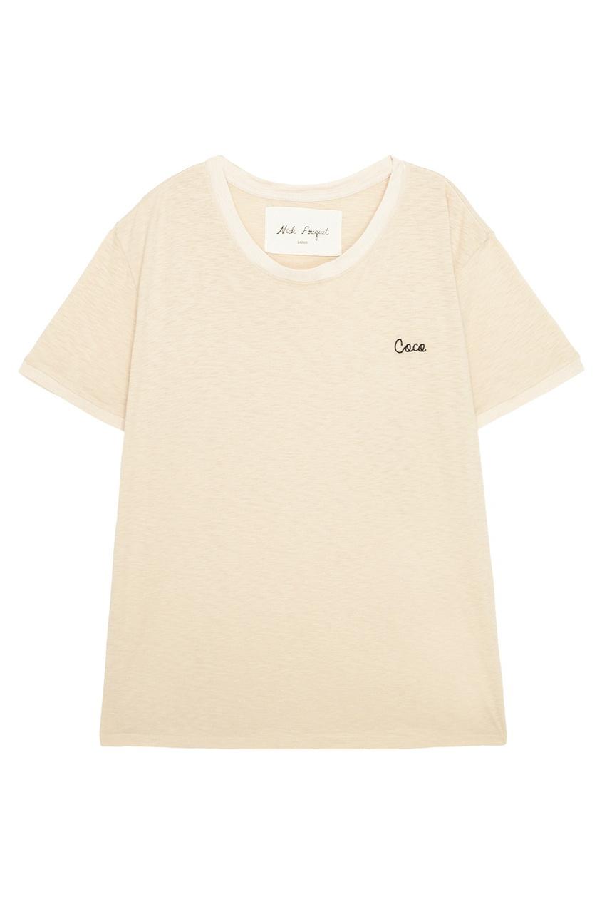 Nick Fouquet Хлопковая футболка Coco футболка с меланжевым эффектом в полоску