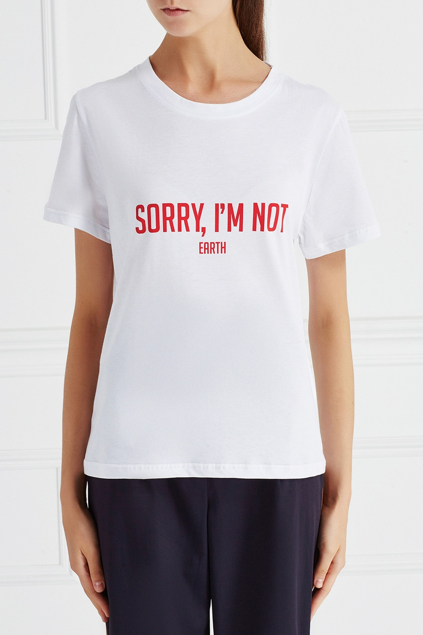 Хлопковая футболка Earth