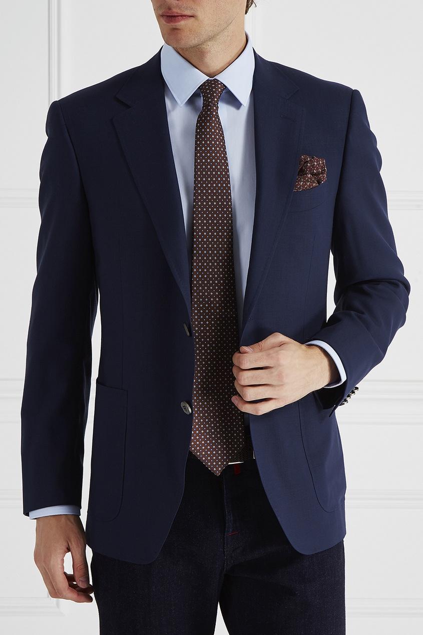Canali Платок с узором canali пальто с контрастным узором
